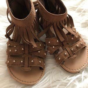 Other - Brown tassel sandals